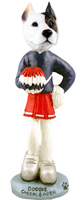 Pit Bull Terrier Cheerleader Doogie Collectable Figurine