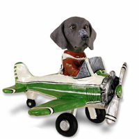 German Short Haired Pointer Airplane Doogie Collectable Figurine