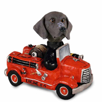 German Short Haired Pointer Fire Engine Doogie Collectable Figurine