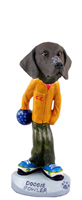 German Short Haired Pointer Bowler Doogie Collectable Figurine