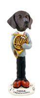 German Short Haired Pointer French Horn Doogie Collectable Figurine