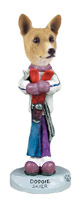 Basenji Skier Doogie Collectable Figurine