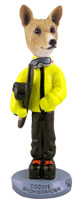Basenji Snowboarder Doogie Collectable Figurine