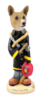 Basenji Fireman Doogie Collectable Figurine