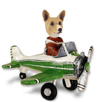 Basenji Airplane Doogie Collectable Figurine