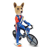 Basenji Bicycle Doogie Collectable Figurine