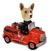 Basenji Fire Engine Doogie Collectable Figurine