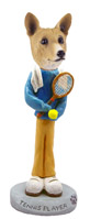Basenji Tennis Player Doogie Collectable Figurine