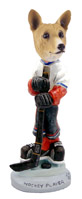 Basenji Hockey Player Doogie Collectable Figurine