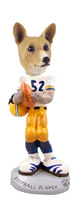 Basenji Football Player Doogie Collectable Figurine