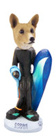 Basenji Surfer Doogie Collectable Figurine