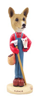 Basenji Farmer Doogie Collectable Figurine