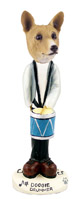 Basenji Drummer Doogie Collectable Figurine
