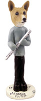 Basenji Flutist Doogie Collectable Figurine