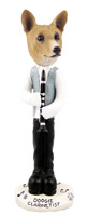 Basenji Clarinetist Doogie Collectable Figurine
