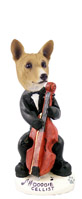 Basenji Cellist Doogie Collectable Figurine
