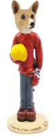 Basenji Construction Worker Doogie Collectable Figurine