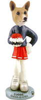Basenji Cheerleader Doogie Collectable Figurine