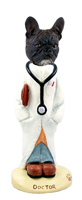 French Bulldog Doctor Doogie Collectable Figurine
