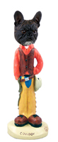 French Bulldog Cowboy Doogie Collectable Figurine