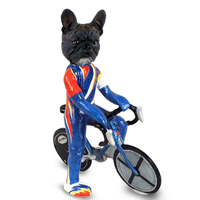 French Bulldog Bicycle Doogie Collectable Figurine