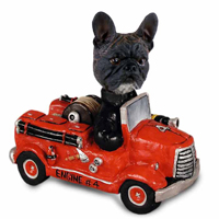 French Bulldog Fire Engine Doogie Collectable Figurine