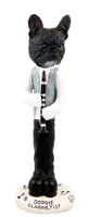 French Bulldog Clarinetist Doogie Collectable Figurine