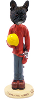 French Bulldog Construction Worker Doogie Collectable Figurine