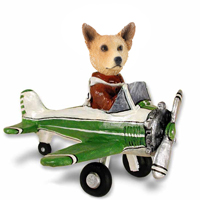 Australian Cattle Dog, RED Airplane Doogie Collectable Figurine