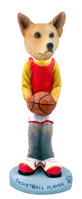 Australian Cattle Dog, RED Basketball Doogie Collectable Figurine