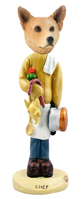Australian Cattle Dog, RED Chef Doogie Collectable Figurine