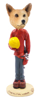 Australian Cattle Dog, RED Construction Worker Doogie Collectable Figurine