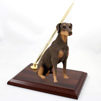 Doberman Pinscher Red w/Uncropped Ears Pen Set