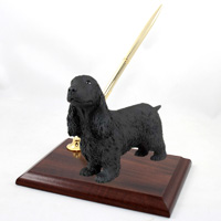 Cocker Spaniel English Black Pen Set