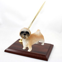 Lhasa Apso Brown w/Sport Cut Pen Set