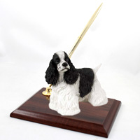 Cocker Spaniel Black & White Pen Set