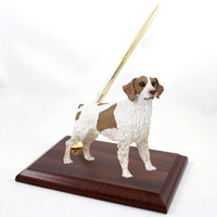 Brittany Brown & White Spaniel Pen Set