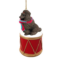 Poodle Chocolate Drum Ornament