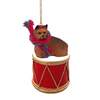 Yorkshire Terrier Drum Ornament