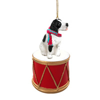 Pointer Black & White Drum Ornament