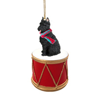 Bouvier des Flandres Drum Ornament