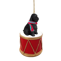 Cocker Spaniel English Black Drum Ornament