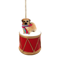 Tibetan Spaniel Drum Ornament
