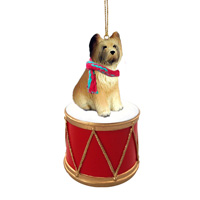 Briard Drum Ornament