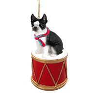 Boston Terrier Drum Ornament