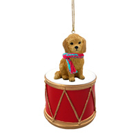 Goldendoodle Drum Ornament