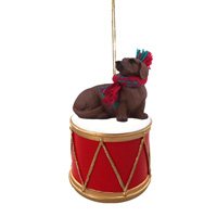 Dachshund Red Drum Ornament