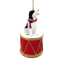 Springer Spaniel Black & White Drum Ornament