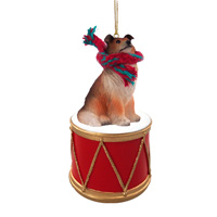 Collie Sable Drum Ornament