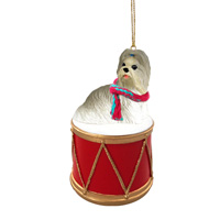 Shih Tzu Mixed Drum Ornament